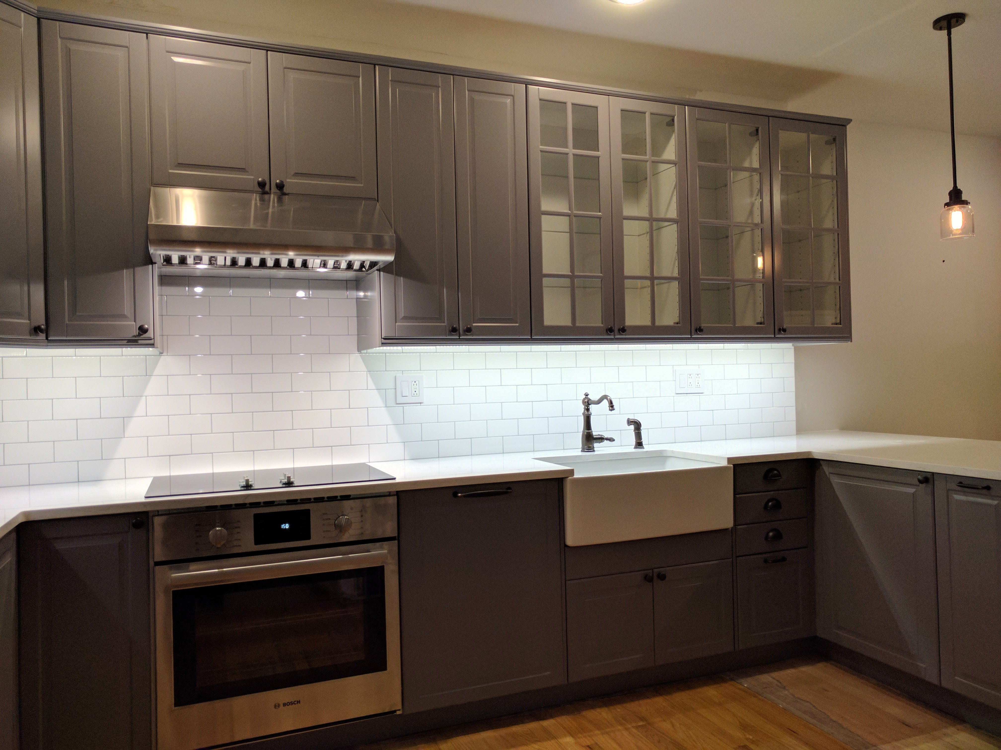 Hoboken Ikea Kitchen Makeover In Bodbyn Gray Basic Builders